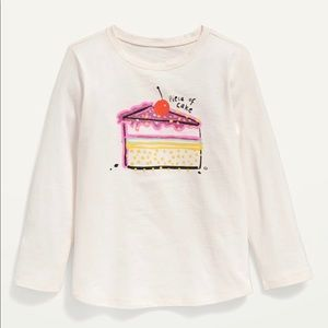 NWT Old Navy Piece of Cake Long Sleeve T-Shirt 4T